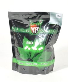 1 Kg Billes Airsoft Bio 0.20 g blanches King Arms