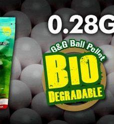 1 Kg Billes Airsoft Bio 0.28 g blanches G&G