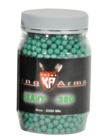 2000 Billes Airsoft 0.36 g vertes King Arms