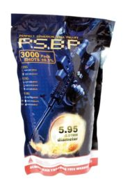 3000 Billes Airsoft 0.20 g blanches G&G