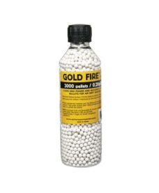 3000 Billes Airsoft 0.20 g blanches GoldFire