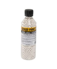 3000 Billes Airsoft 0.25 g blanches GoldFire
