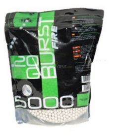 5000 Billes Airsoft 0.20 g blanches Burst