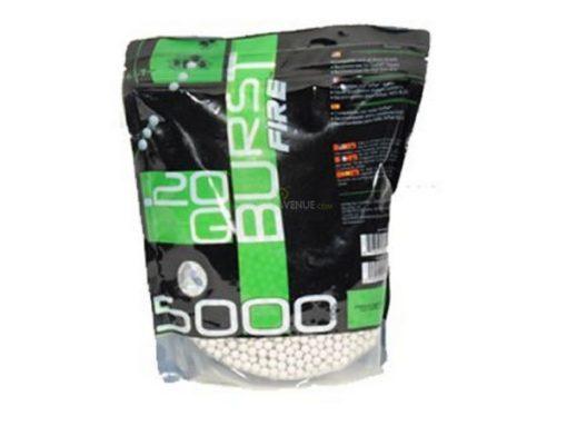 5000 Billes Airsoft 0.20 g blanches Burst