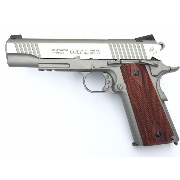 Colt 1911 Rail gun Inox GBB CO2 KWC