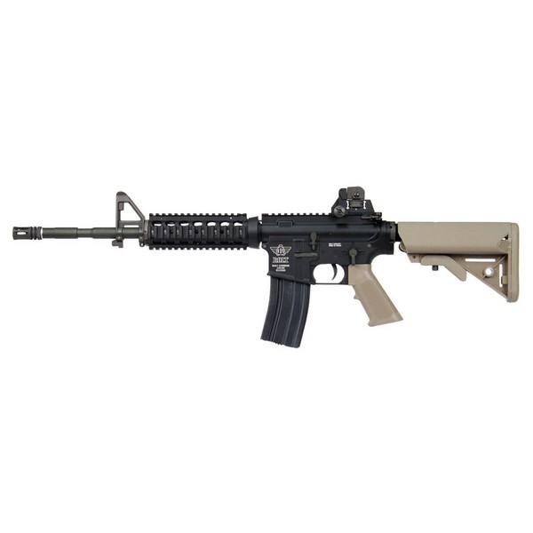 Réplique M4 BOLT RIS SOPMOD Recoil Shock tan blowback AEG