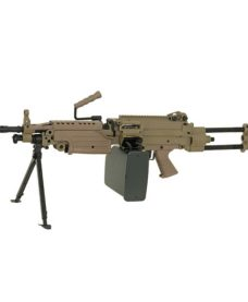 Mitrailleuse M249 PARA metal Tan AEG A&K