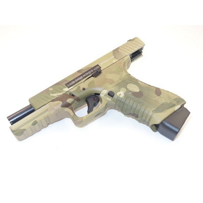 Pistolet G17 APS CO2 GBB V2 Multicam