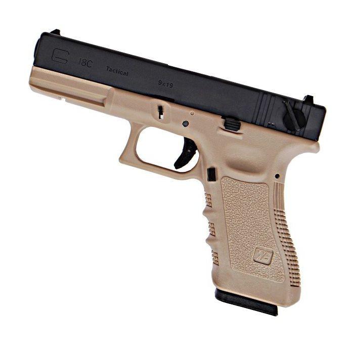 Pistolet G17 Gen4 -GenIV GBB Culasse métal Tan WE