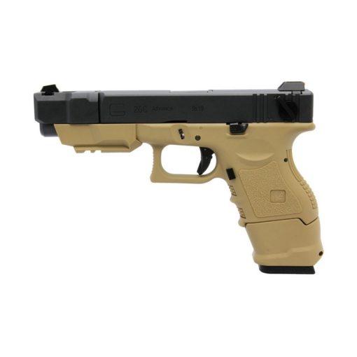 Pistolet G26C Adv Gen 3 III GBB Tan WE