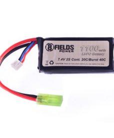 Batterie 8fields LiPo 7.4V 1100 mAh 20/40C