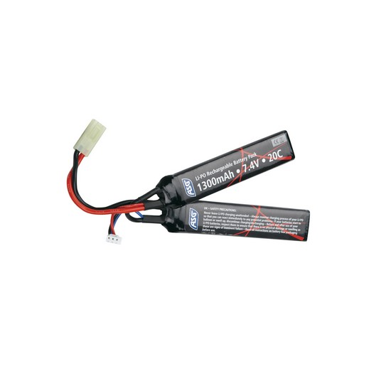 Batterie LiPo 7.4V 1300 mAh stick 2 cellules