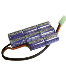 Batterie NimH type boitier PEQ 9.6V 1600 mAh Intellect