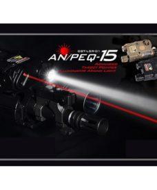 Boitier AN-PEQ 15 Noir Lampe tactique et Laser rouge