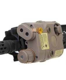 Boitier PEQ 15 Tan Laser et Lampe Tactique Emerson