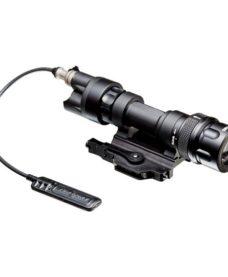Lampe tactique Led alu noire 150 lumens+IR+Strombo