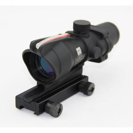 Lunette ACOG Airsoft zoom 4x32 fibre optique