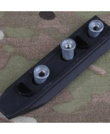 Rail aluminium noir 5 Slots pour keymod system