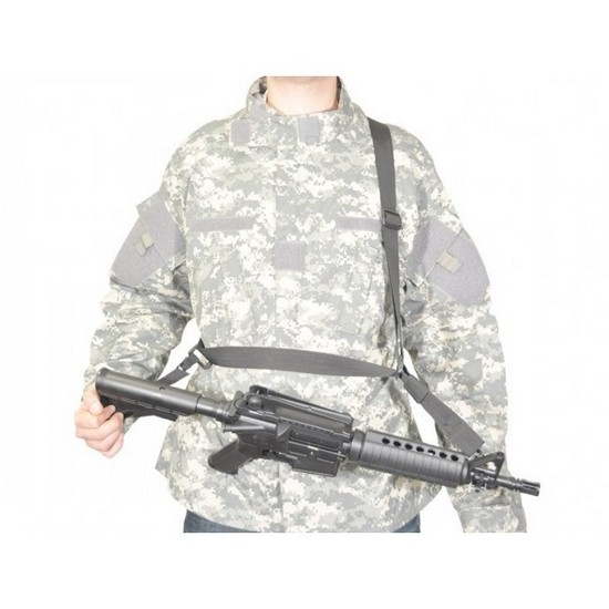 Sangle Airsoft 3 points Swiss Arms noire