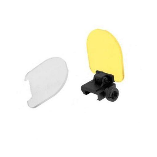 Verre de protection Flip Up pour lunette visée Airsoft