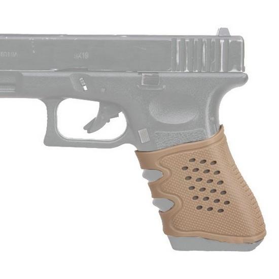 Grip en gomme tan antidérapant pour Glock