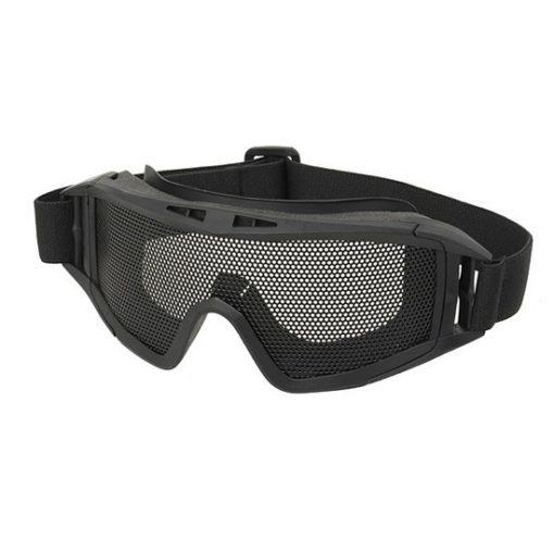 Masque tactique Airsoft grillage noir