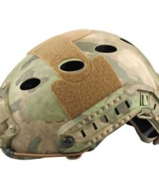 Casque tactique Airsoft FAST PJ Molette Atacs Foliage
