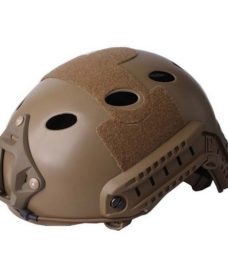 Casque tactique Airsoft FAST PJ Molette Dark Earth