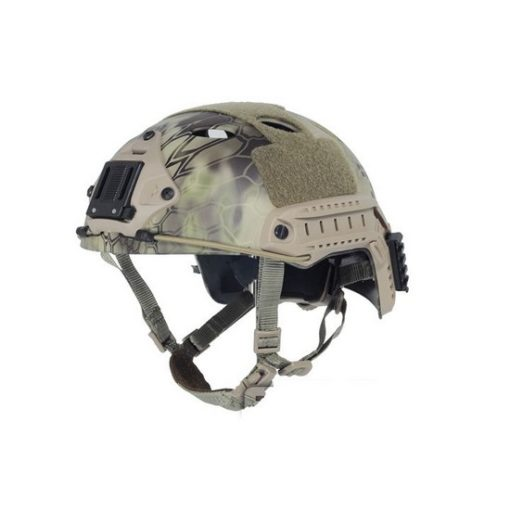 Casque tactique Airsoft FAST PJ Molette Kryptek Mandrake