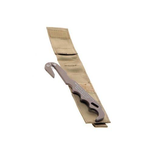 Couteau de secours Airsoft avec pochette tan