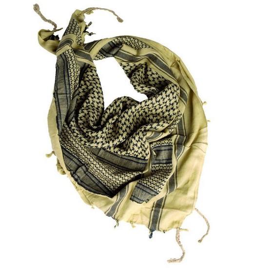 Echarpe Shemagh chèche militaire sable et noire   Blowback.fr 1816f269539