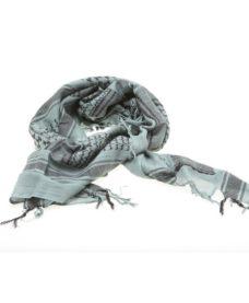 Echarpe Shemagh chèche militaire urban gris noir