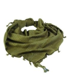 Echarpe Shemagh chèche militaire verte unie
