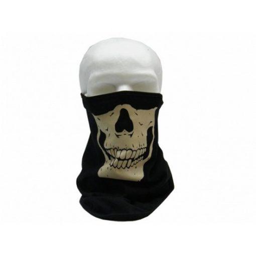 Foulard tête de mort anti poussiéres phosporescent