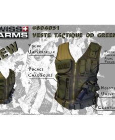Gilet tactique Airsoft BT4 olive Swiss Arrms