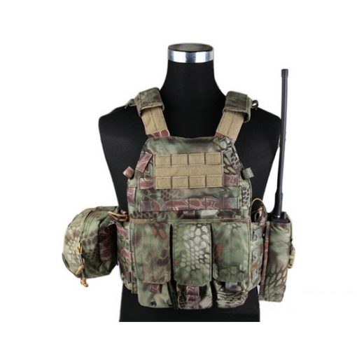 Gilet tactique Airsoft style Plate Carrier 3 poches