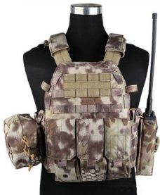 Gilet tactique Airsoft style Plate Carrier 4 poches