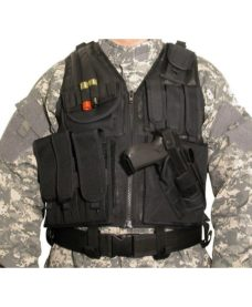 Gilet tactique BT4 Airsoft Noirr Swiss Arrms