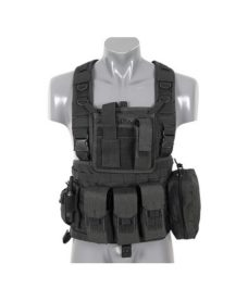 Gilet tactique noir Airsoft DUKE Commando Recon
