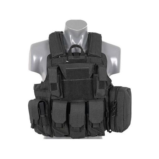 Gilet tactique noir Airsoft DUKE Multipoches