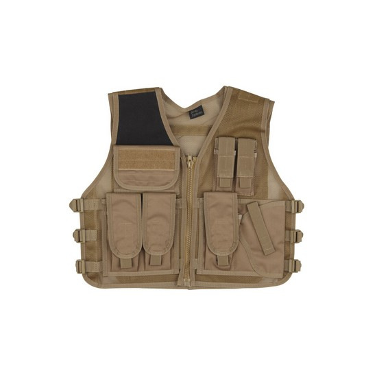 Gilet tactique tan Airsoft Strike Recon