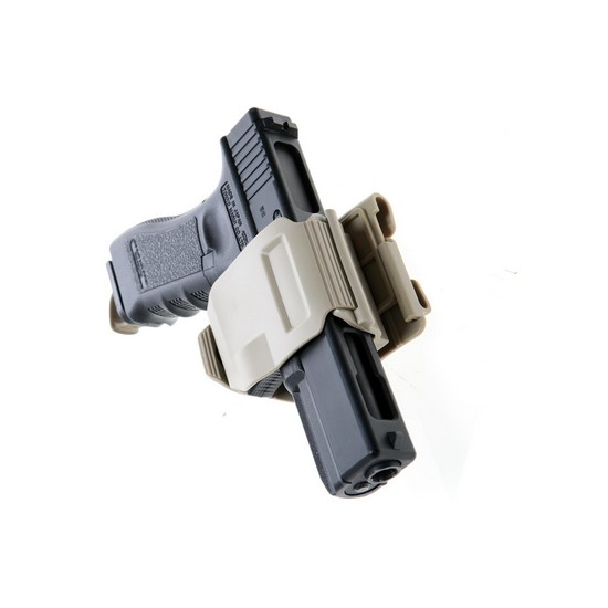 Holster Airsoft tan type GunClip pour Glock