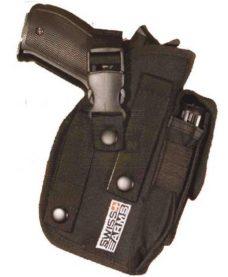 Holster ceinture Airsoft ambidextre noir