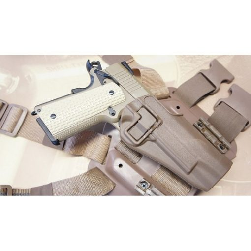 Holster cuisse 1911 tan Airsoft CQC rigide droitier