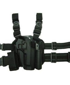 Holster cuisse Beretta 92 noir Airsoft CQC rigide
