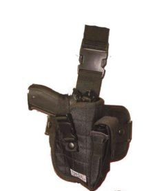 Holster cuisse droit Airsoft noir Swiss Arms