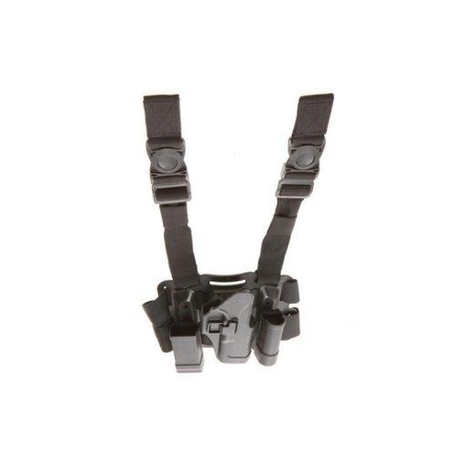 Holster cuisse Glock noir Airsoft CQC rigide droitier