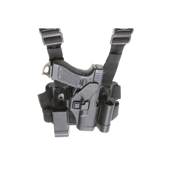 Holster cuisse Glock noir Airsoft CQC rigide droitier
