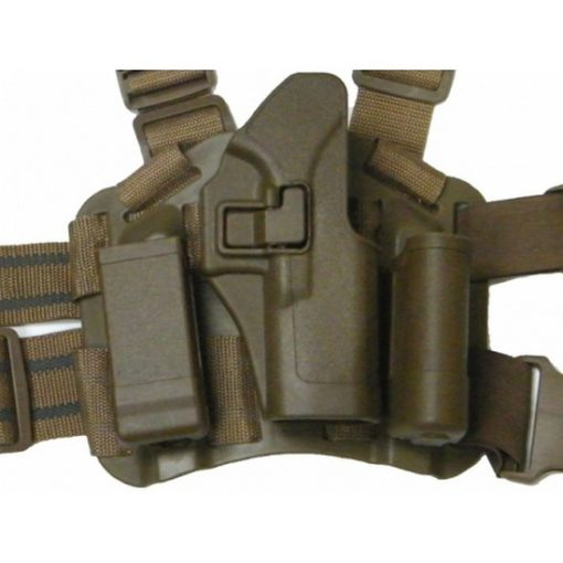 Holster cuisse Glock tan Airsoft CQC rigide droitier