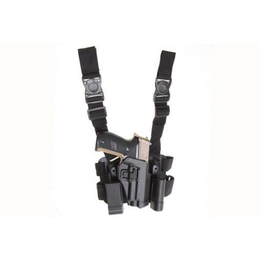 Holster cuisse P226 noir Airsoft CQC rigide droitier